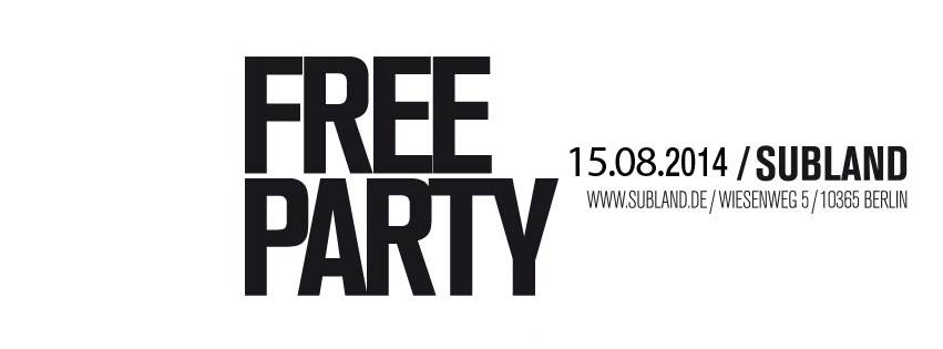 FREE PARTY 15/8/14